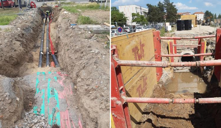 Na sídlišti Povel pokračuje stavba tramvajové trati. Harmonogram se daří dodržovat, potvrzuje město