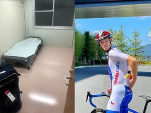 Noc jako v cele a přísná izolace. Cyklista Michael Kukrle prochází před olympijským závodem těžkou zkouškou