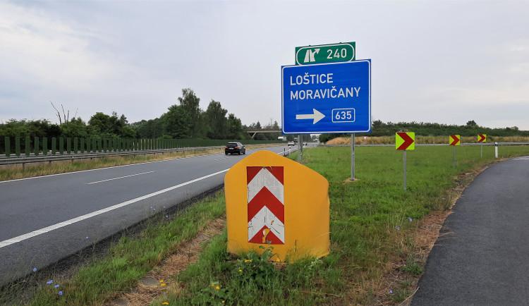 Začíná oprava sjezdů na dálnici na Mohelnici. Potrvá až do poloviny října