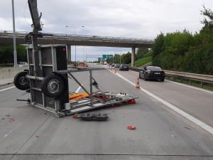 Dvě nehody komplikovaly dopravu na obchvatu Olomouce ve směru na Mohelnici
