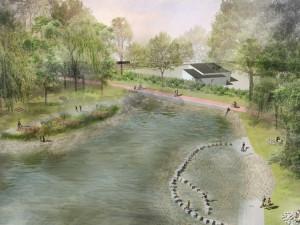 Prostějov chce upravit Pivovarský rybníček. Teď se tam scházejí bezdomovci