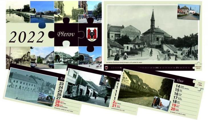 Přerov má unikátní kalendář na příští rok. Srovnává sto let staré snímky se současností