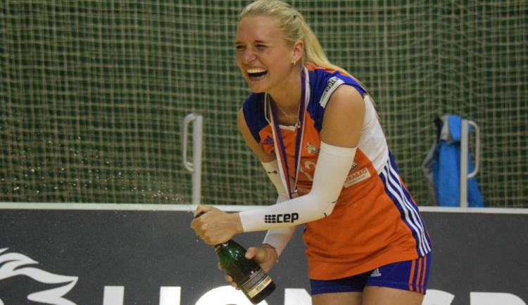 FOTOGALERIE: Volejbalistky Olomouce usedly po 23 letech na ligový trůn