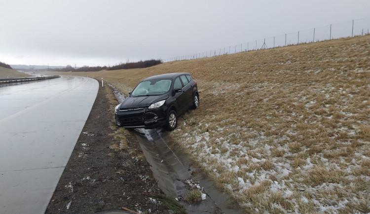 FOTOGALERIE: Hromadná nehoda na dálnici D1 u Hranic