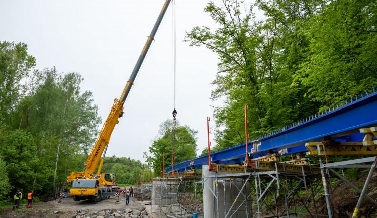 FOTOGALERIE: Most pro cyklisty na Plumlovské přehradě